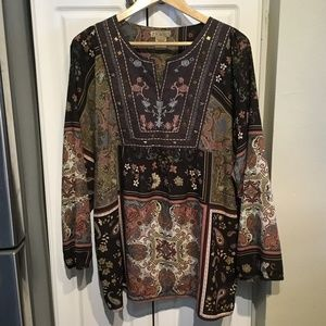 Art and Soul Boho Top with Empire Waist